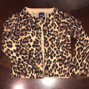Baby Gap leopard cardigan sweater